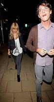 Chanelle Hayes and Jack Tweed's brother Lewis leaving...