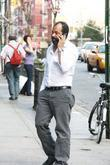 Jeffrey Wright Talking On His Phone While Out