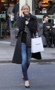 Jenni Falconer shopping in central London London, England
