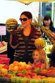 Jennifer Garner and Violet Affleck shopping at the...