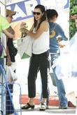Jennifer Garner shopping at Brentwood Village Farmers Market...