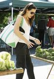 Jennifer Garner shopping for broccolli at Brentwood Village...