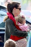 Jennifer Garner has her hands full as she...