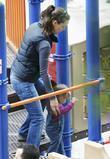 Jennifer Garner and her daughter Seraphina Rose Elizabeth at a Park in Santa Monica