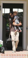 Cash Warren and Honor Marie Warren prepare to leave the family home in Westwood
