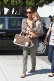 Jessica Alba, her daughter Honor Marie Warren go shopping in Beverly Hills