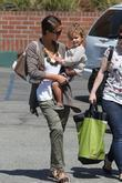 Jessica Alba and her daughter Honor Marie Warren go shopping at Rite Aid in Beverly Hills