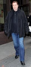 John Travolta arriving at BET studios in Manhattan...