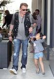 Johnny Hallyday and his daughter Jade