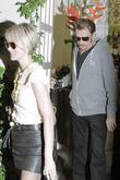 Johnny Hallyday and His Wife Laetitia Boudou Leaving Neil George Salon Surrounded By Photographers