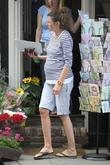 Jools Oliver doing some shopping near her home...