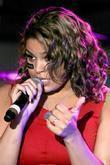 Jordin Sparks performing and Jordin Sparks