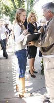 Actress Josie Davis Was Spotted Outside The Ivy In Los Angeles Were She Stopped To Sign Autographs.