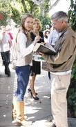Actress Josie Davis Was Spotted Outside The Ivy In Los Angeles Were She Stopped To Sign Autographs