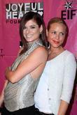 Debra Messing and Maria Bello
