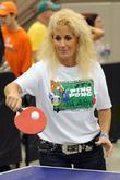 Julie Bower From The Reality Series Police Women Of Broward County Plays Ping Pong