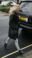 Kate Moss out and abot in north London...
