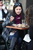 Katie Lee Eating Lunch With A Friend At Bar Pitti In Manhattan's West Village