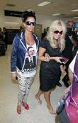 Katie Price arrives at LAX on a Virgin...