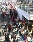 Fans queue outside