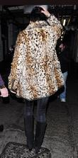 Katie Price, Aka Jordan and Wearing An Animal Print Coat On Her Night Out
