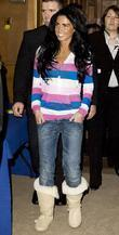 Katie Price, aka Jordan and arriving at Olympia for The London International Horse Show