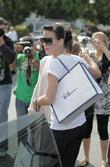 Katy Perry, friends leaving Fred Segal after having lunch.