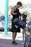 Kellan Lutz departs a gym Los Angeles, California