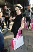 Kelly Osbourne out shopping with her dog Beverley...