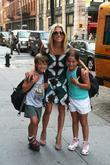 Kelly Ripa runs errands with her children Joaquin...