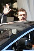 Ryan Seacrest seen leaving the Villa Blanca restaurant...