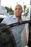 Dallas Cowboy's wide receiver Miles Austin arrives at Crustacean restaurant in Beverly Hills where he had lunch with Kim Kardashian