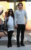 Kourtney Kardashian, her fiance, Scott Disick and seen walking after having lunch at a Beverly Hills restaurant
