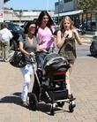 Kourtney Kardashian, Kendall Jenner and a family friend take Kourtney's son Mason for a day out at Cross Creek in Malibu