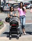 Kourtney Kardashian and Kendall Jenner take Kourtney's son Mason for a day out at Cross Creek in Malibu