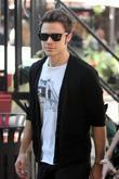 Kris Allen arrives to perform on the entertainment...