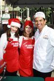 Jennifer Love Hewitt, Alyssa Milano and Antonio Villaraigosa