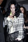 Cher leaving La Vida restaurant in Hollywood after...