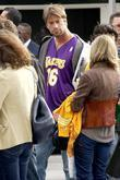 Charlie O'Connell outside the Staples Center to watch...