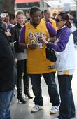 Kyle Massey Celebrities arrive for the LA Lakers...