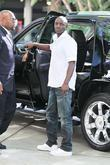 Akon Celebrities arriving at the Staples Center to...