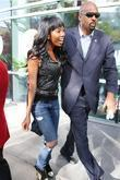 Brandy Norwood Celebrities arriving at the Staples Center...