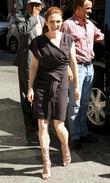 Julianne Moore and David Letterman