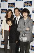 Polly Draper, Michael Wolff with their sons Nat Wolff, Kevin Wolff from the TV show The Naked Brothers Band attending the opening night of the Broadway play 'Lend Me A Tenor' at the Music Box Theatre.