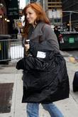 Abby Elliott outside Ed Sullivan Theatre for the...