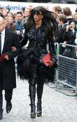 Naomi Campbell London Fashion Week - Alexander McQueen...