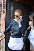 Lindsay Lohan and Leaves