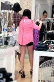 Lindsay Lohan shopping at Switch Boutique in Beverly...