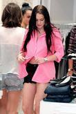 Lindsay Lohan with visible roots, shopping at Switch...