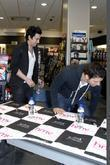 Lostprophets sign copies of their new album 'The Betrayed' at HMV